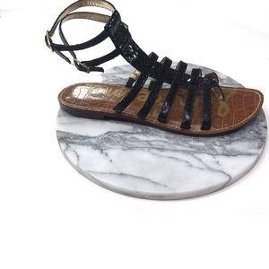Sam Edelman Gilda Gladiator Black Sandals Size 7